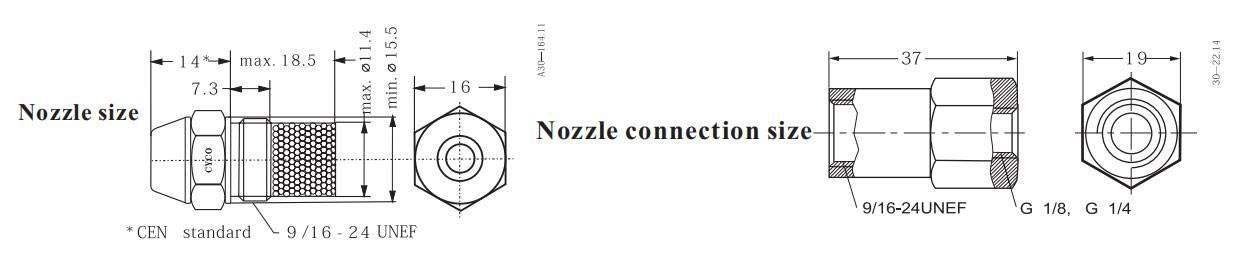 Diagram of CYCO OD Series Oil Burner Nozzle
