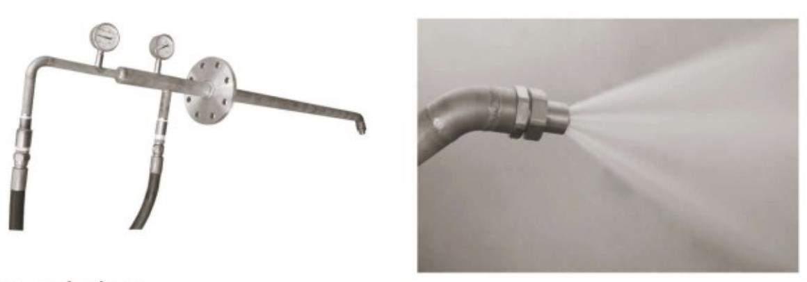 Large Flow Air Atomizing Nozzle Spraying Effect