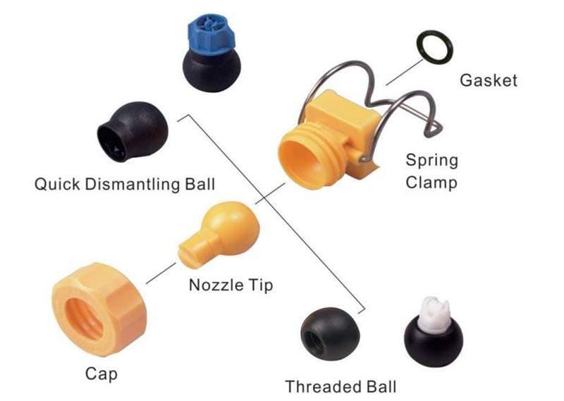 CYCO Adjustable Clamp Spray Nozzle 6