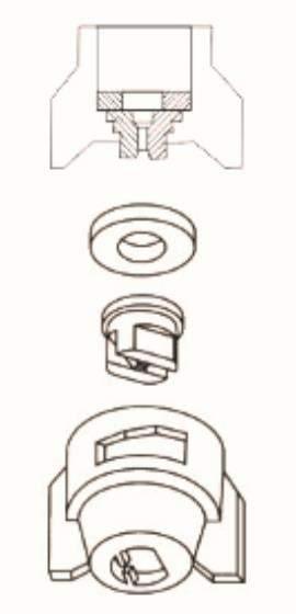 diagram of j series plastic clamp nozzle