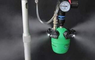 aplicación de humidificador de niebla seca