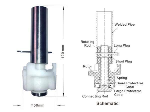 m-50 rotating tank washing nozzle