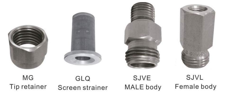 SJV-spray-nozzle-parts