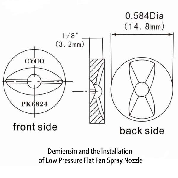 dimension-and-the-installation-of-low-pressure-flat-fan-spray-nozzle