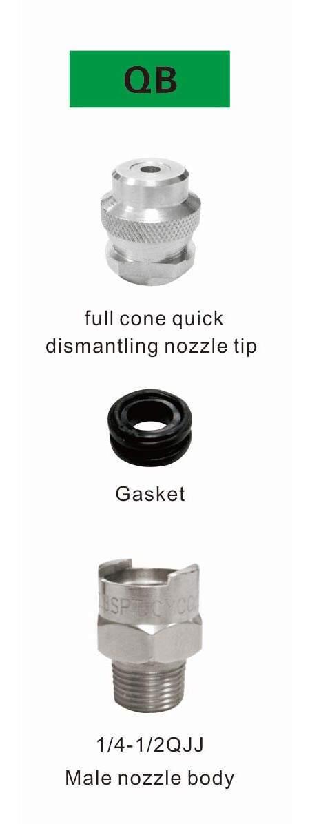 qjj qb series full cone quick dismantling nozzle