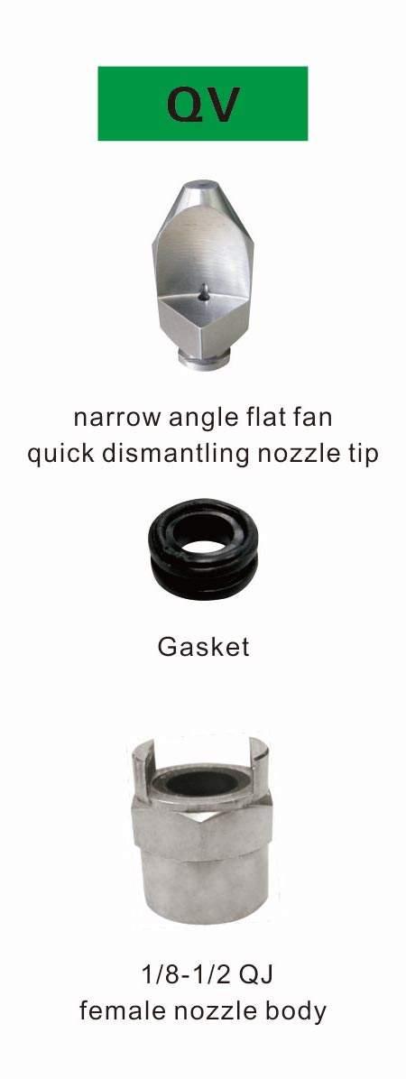 qjj qv series flat fan narrow angle quick dismantling nozzle