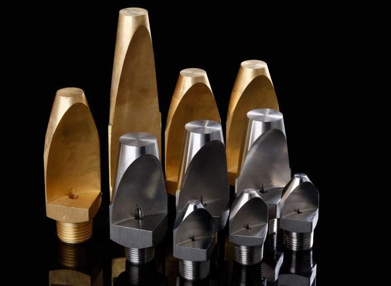 v shape narrow anlge brass flat fan nozzle