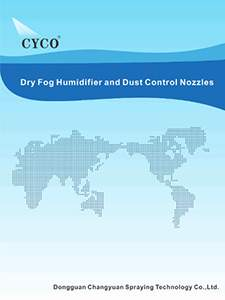 cyco dry fog humidifier and dust control nozzle