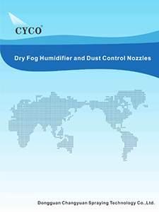 humidificador de niebla seca cyco y boquilla de control de polvo